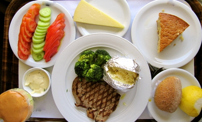 An example of a non-mediterranean diet at a Greek hospital