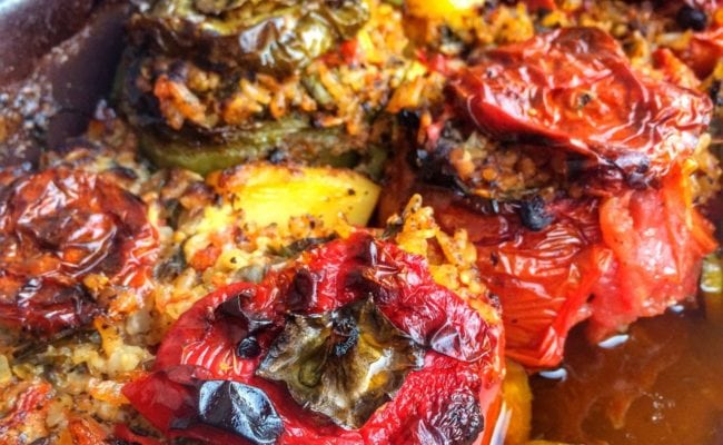 Gemista Greek stuffed tomatoes