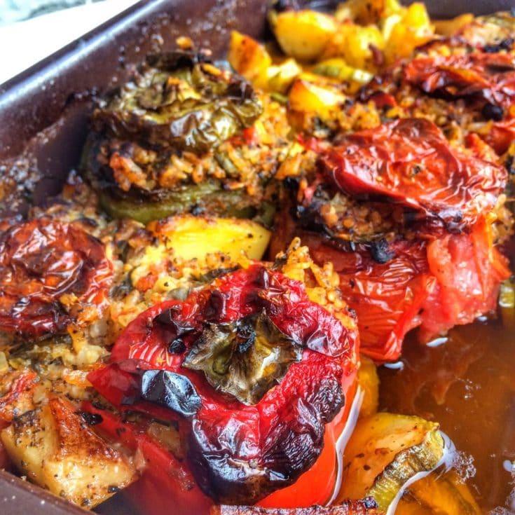 The Best Authentic Greek Stuffed Tomatoes-Gemista