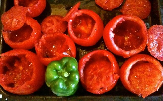 greek stuffed tomatoes and peppers