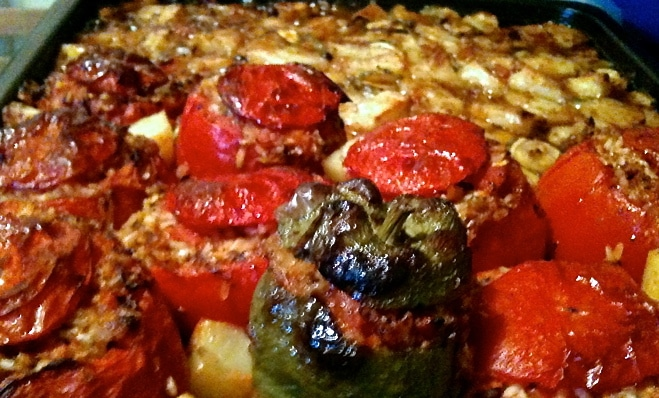 The Best Authentic Greek Stuffed Tomatoes and Peppers-Gemista