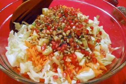 Festive cabbage salad