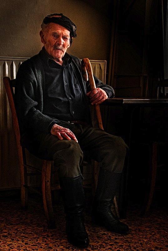 Centenarian cretan man