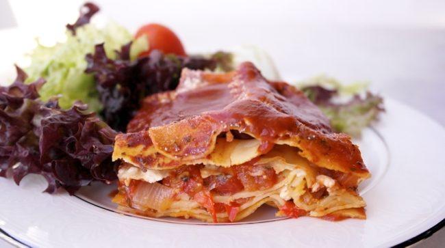 Vegetarian Lasagna with Feta Cheese