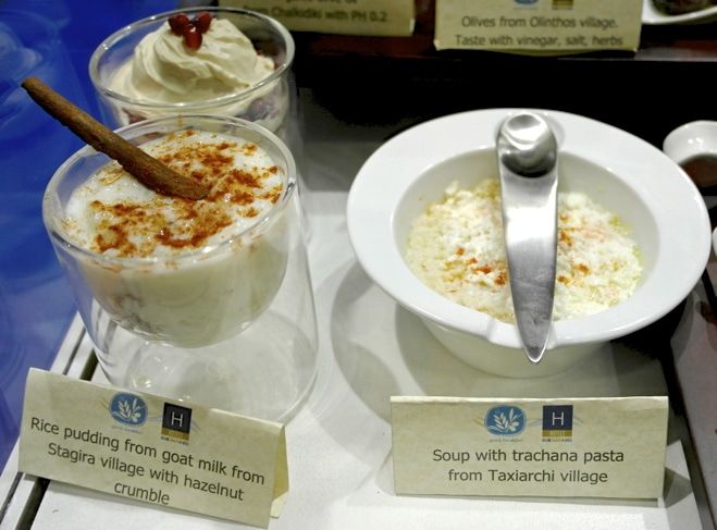 Rice Pudding from Goat's Milk and Trahana Pasta from the Halkidiki Region