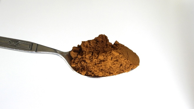 Greek coffee has a lighter color then similar style coffees.