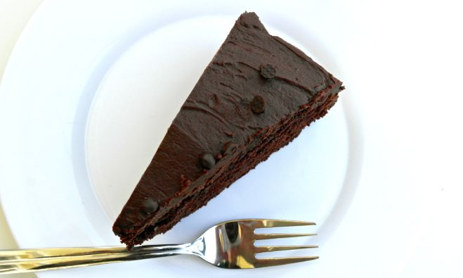 chocolate cake with EVOO