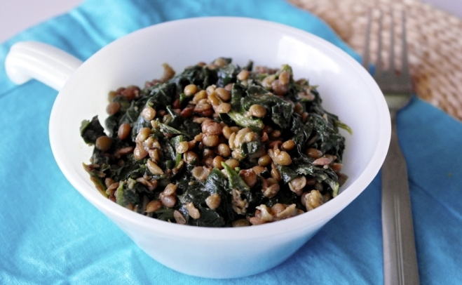 ... Spinach Lentil Salad with Olive Oil and Honey Dressing | Olive Tomato