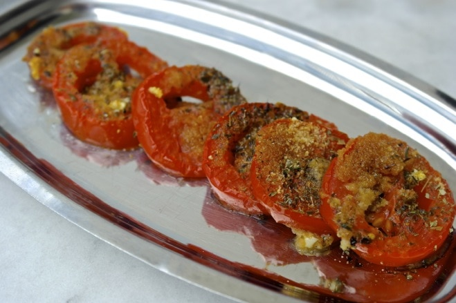 Roasted Tomatoes with oregano & garlic