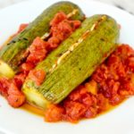 Roasted zucchini and tomatoes