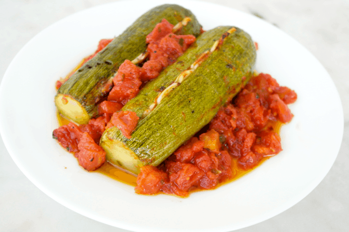 Roasted Zucchini with Garlic and Tomato-A Recipe from Crete