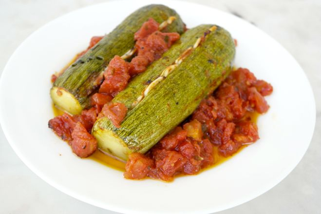 Roasted Zucchini with Garlic and Tomato-A Recipe from Crete | Olive ...