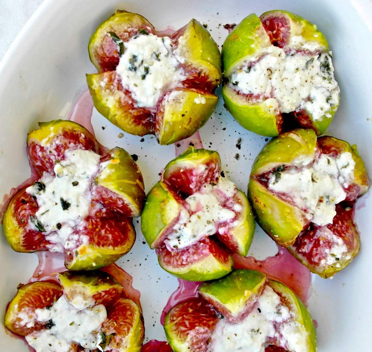 Figs with feta