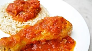 Greek Chicken Cooked in Tomato-Kotopoulo Kokkinisto