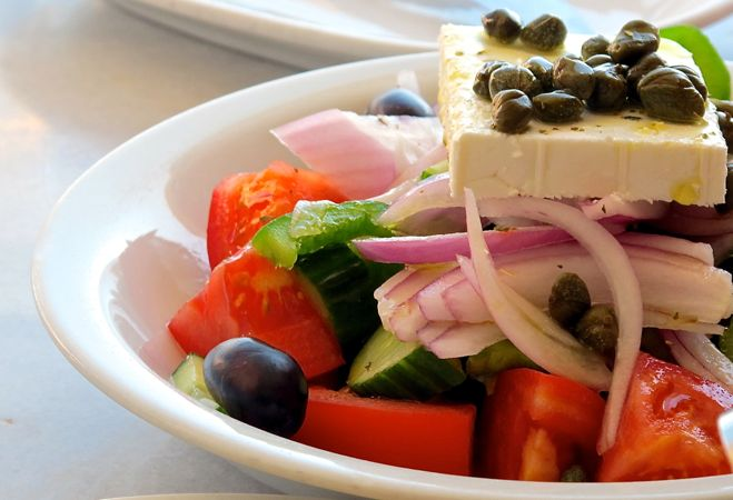 The Best Authentic Greek Salad.