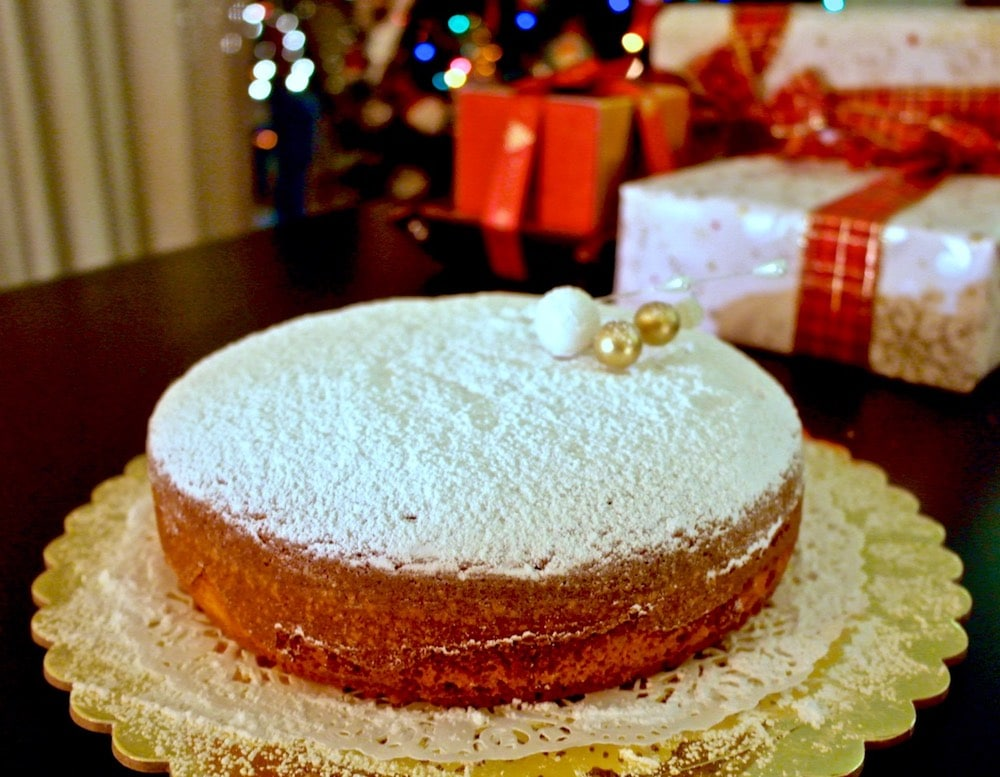 Greek New Year's Cake Made with Olive Oil -Vasilopita-