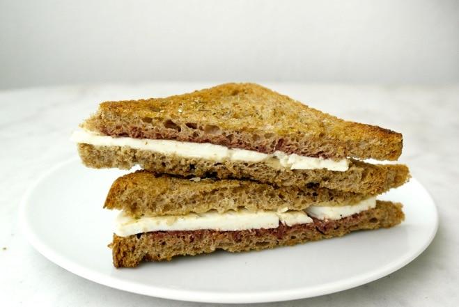 Greek feta tahini sandwich