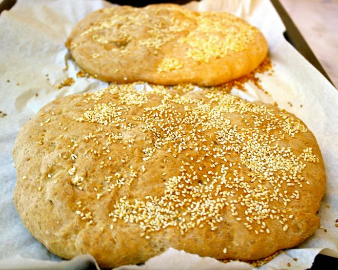 Greek Flatbread-Lagana