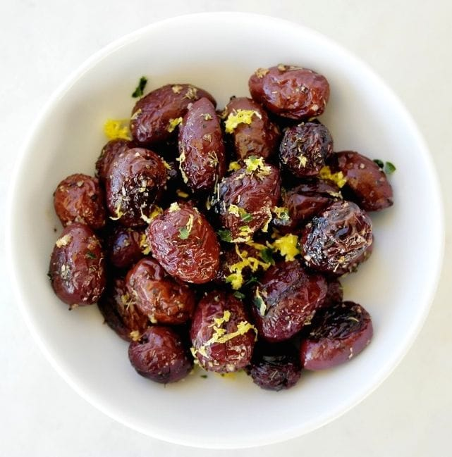 Greek Style Herb Roasted Olives