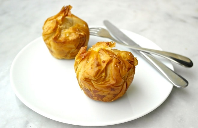 Fig and Greek Cheese Mini Phyllo Pies