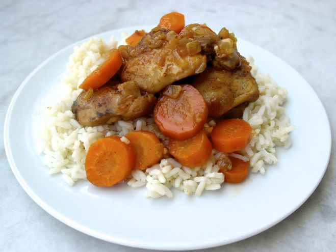 Honey lemon chicken and carrots