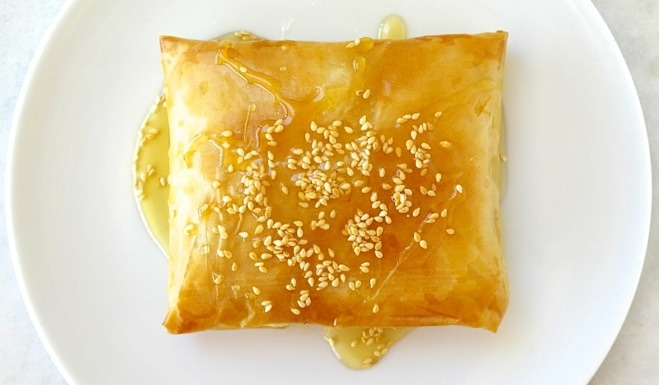 Greek Baked Feta Cheese in Phyllo with Honey