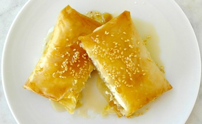 Greek baked feta in phyllo