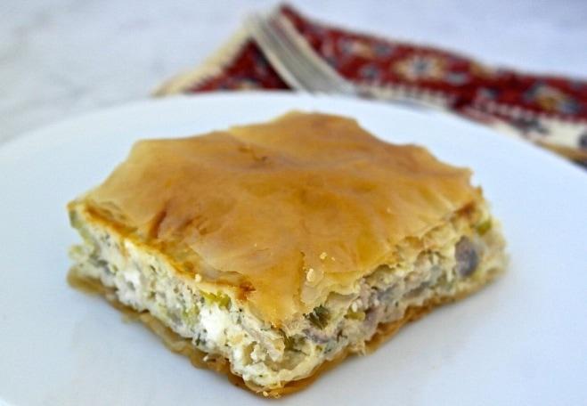 Greek Onion Pie with Feta Cheese – Kremithopita