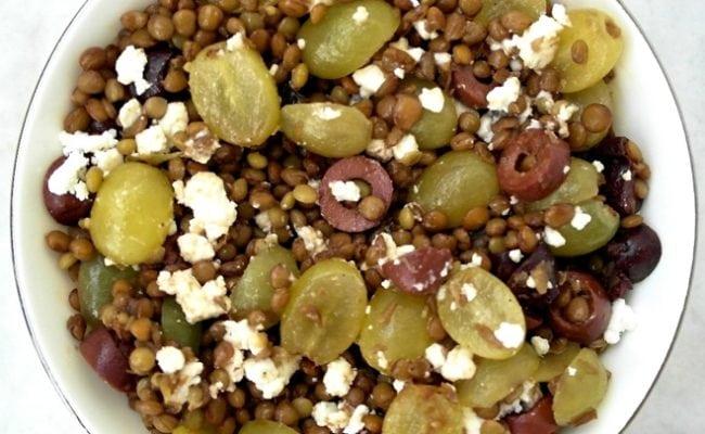 Lentil grape salad