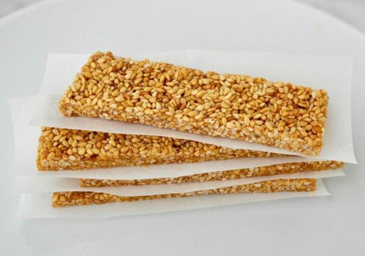 Pasteli: Greek Honey-Sesame Bars