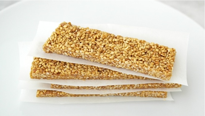Pasteli: Greek Honey-Sesame Bars