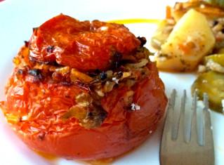 gemista-Greek stuffed tomatoes