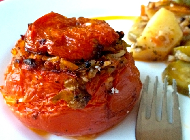 The Best Greek Stuffed Tomatoes and Peppers-Gemista