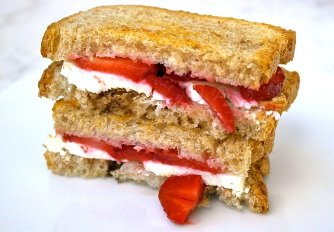 strawberry feta sandwich