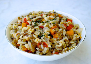 greek rice and lentils