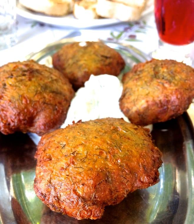 greek fennel patties fritters
