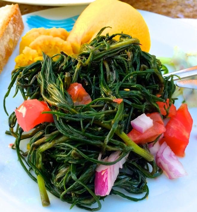 greek greens and fava
