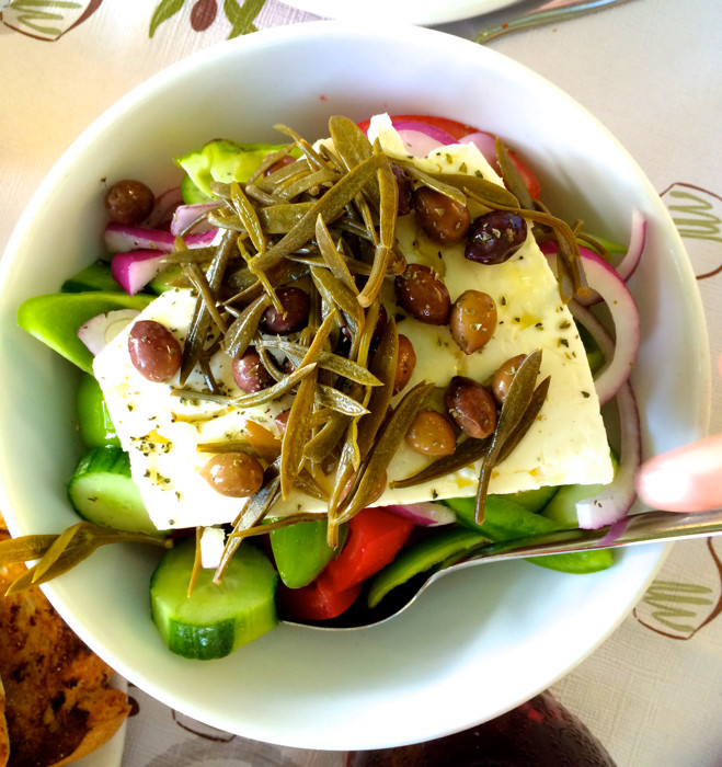 greek salad kythera
