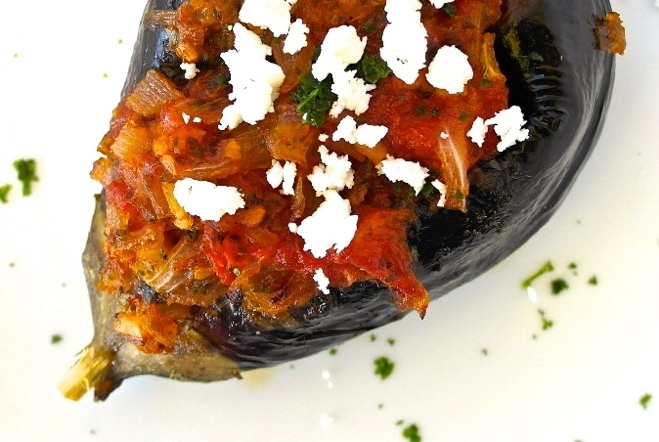 ... Stuffed Eggplant with Fresh Tomato and Onion-Imam | Olive Tomato