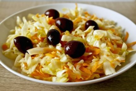 Greek winter salad , cabbage and carrot
