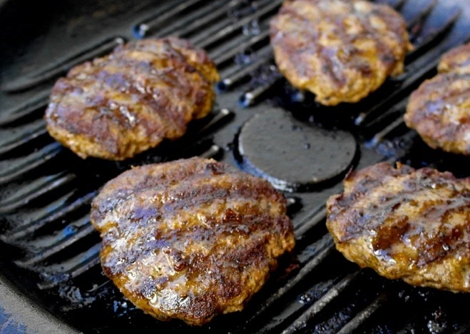 Greek burgers Biftekia