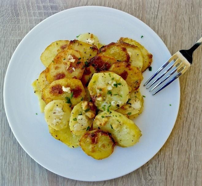 greek scalloped potatoes with feta