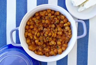 greek roasted chickpeas