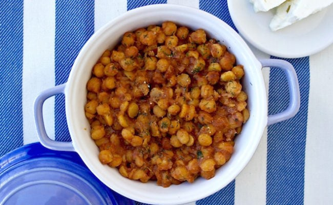 greek roasted chickpeas