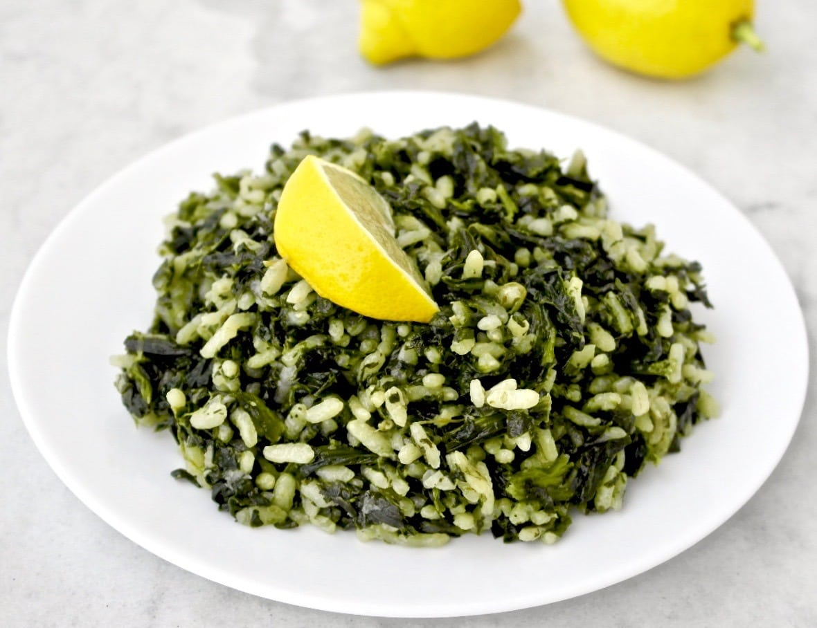 Greek Spinach And Rice Spanakorizo