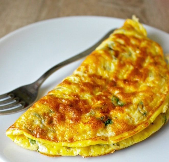 greek omelette with feta
