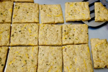 carrot and olive oil crackers