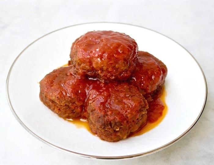 Greek chickpea patties in tomato sauce