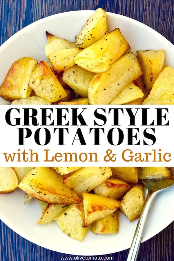 Greek style potatoes with garlic and lemon
