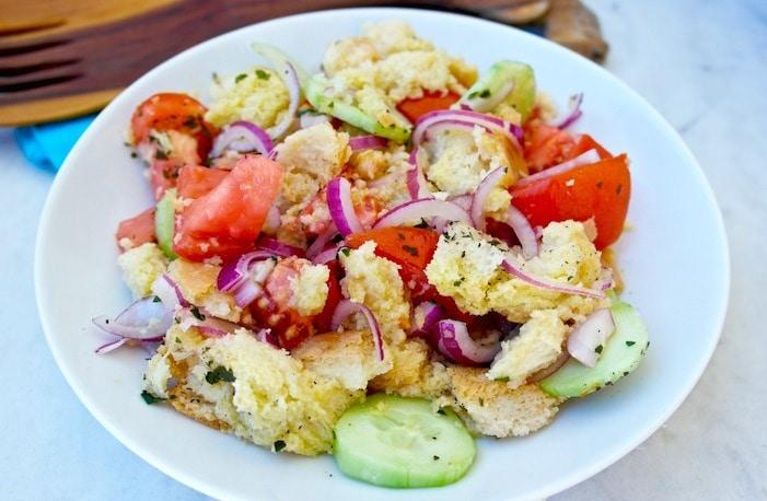 Panzanella Mediterranean Salad